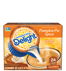 Pumpkin Pie Spice Coffee Creamer Singles