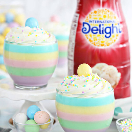 Pastel Rainbow Gelatin Cups Recipe