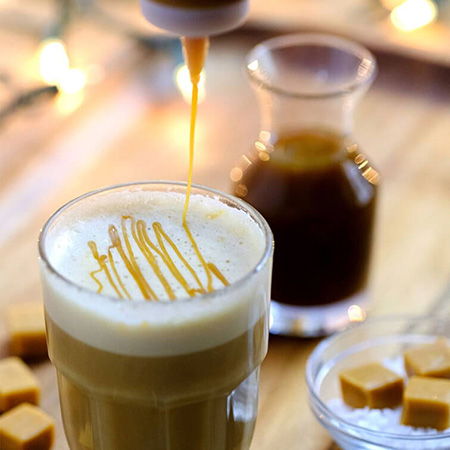 Salted Caramel Latte Coffee Drink Recipe