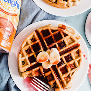 Peanut Butter Waffles Recipe