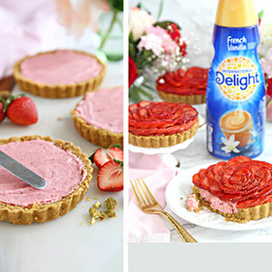 Strawberry Rose Tarts Recipe
