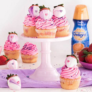 Strawberry Sweetheart Cupcakes Recipe